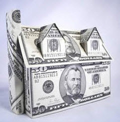 House image made of money